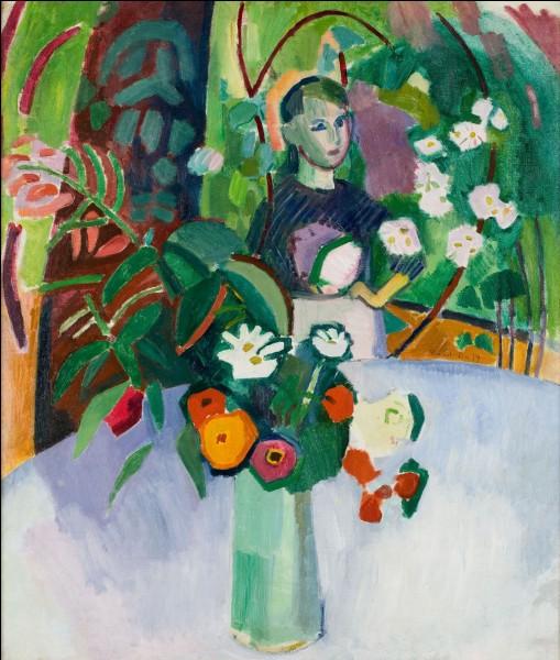 """Qui a peint cette toile intitulée""""Jeanne dans les fleurs"""" ?"""