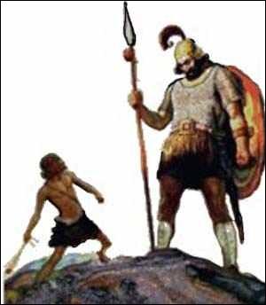 J'ai affronté un géant avec le nom de Dieu et une fronde et j'ai vaincu. (1 Samuel 17 : 4-7; 45-51)