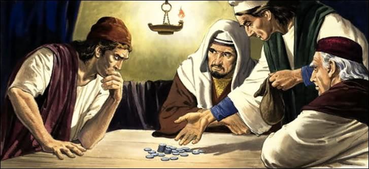 J'ai trahi mon maître et je l'ai vendu pour 30 pièces d'argent. (Matthieu 26 : 1-2; 14-16)