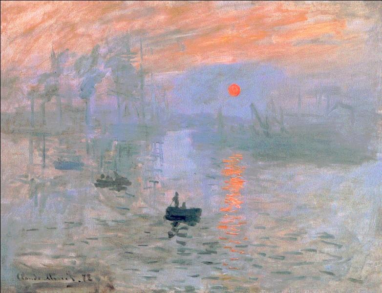 """Qui a signé la toile """"Impression, soleil levant"""", qui a donné son nom à l'Impressionisme ?"""