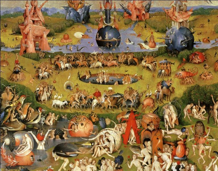 """Le tableau de Jérôme Bosch """"Le Jardin des délices"""" est une partie d'un tryptique."""