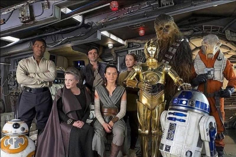 Quel est le seul personnage qui aura été présent dans la totalité des épisodes des trois trilogies Star Wars, y compris l'épisode 9 ?
