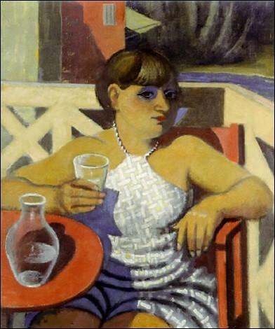 """Sa toile s'intitule """"L'Apéritif à Bandol, portrait de Suzanne"""" :"""