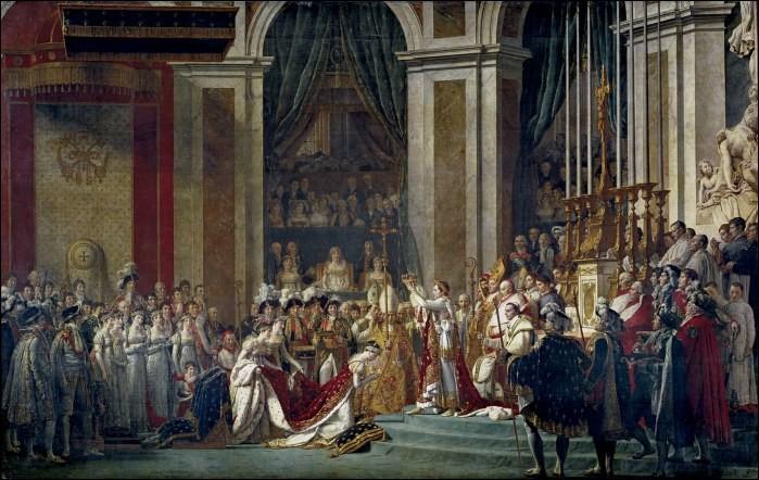 Quel évènement ayant eu lieu à Notre-Dame de Paris, Jacques Louis David a-t-il immortalisé sur sa toile ?