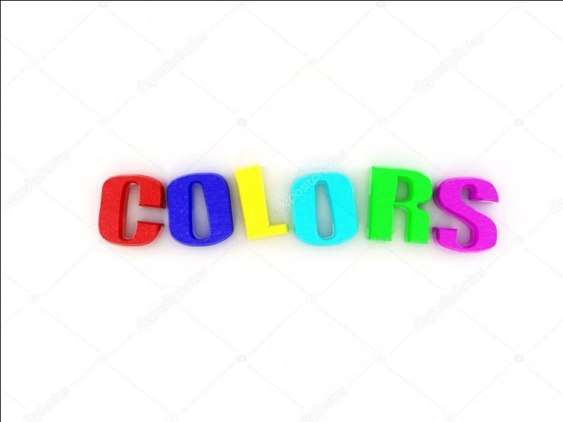 Quelle est la couleur que tu préfères ?