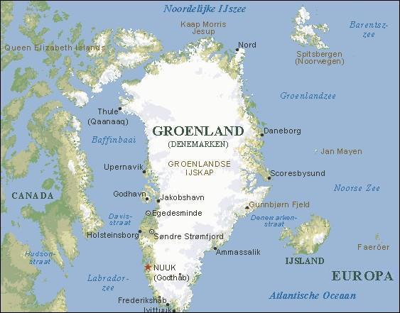 Comment traduit-on le mot d'origine hongroise 'Groenland' ?