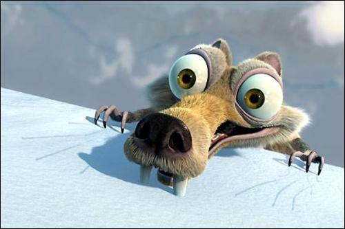 Quel est le nom du petit rongeur qui fissure la banquise dans 'L'âge de glace' ?