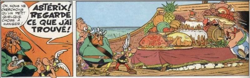 Habituellement, il se prend pas mal de baffes de la part des Gaulois. Parfois, c'est Jules César qui le maltraite. La seule fois où il s'en tire bien, il se retrouve brutalement coiffé d'un récipient rempli d'or ! D'ailleurs, dans cette aventure, on le verra aubergiste !Dans la version néerlandaise, il se nomme «Roodbaard » !Qui est-il ?