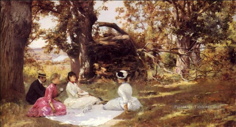 """Qui a peint """"Pique-nique sous les arbres"""" ?"""