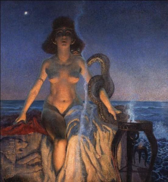Soeur et maitresse d'Osiris, ayant une relation nécrophilique avec lui. Qui est-elle ?