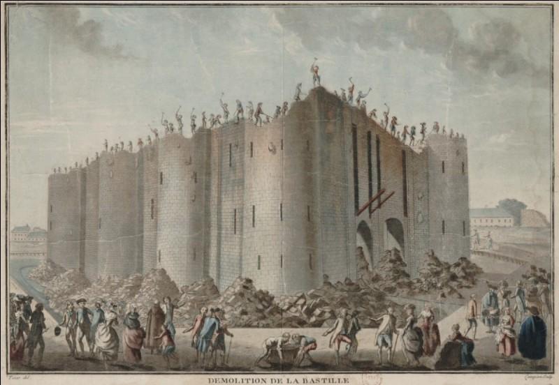La Bastille, forteresse puis prison, a été démolie dès le lendemain de sa prise par le peuple parisien en juillet 1789. Quand avait-elle été édifiée ?