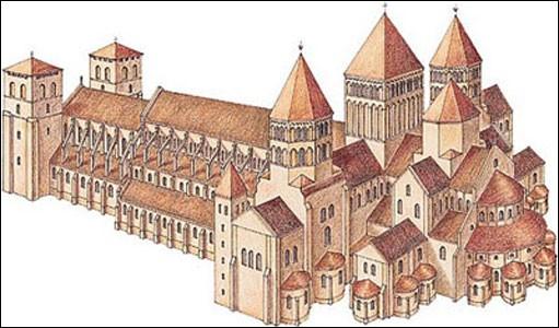 Cette très grande abbaye bénédictine, fondée au début du Xe siècle, a été l'un des grand centres de l'occident chrétien ; devenue bien national en 1789, elle a été en quasi totalité détruite dans les vingt années qui suivirent. De quelle abbaye s'agit-il ?