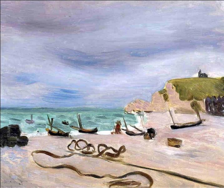 """Qui a réalisé le tableau """"Les Cordages - plage d'Étretat"""" ?"""