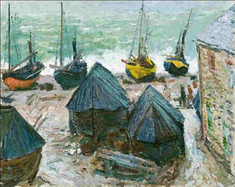 """À qui doit-on """"Étretat, bateaux sur la plage"""" ?"""