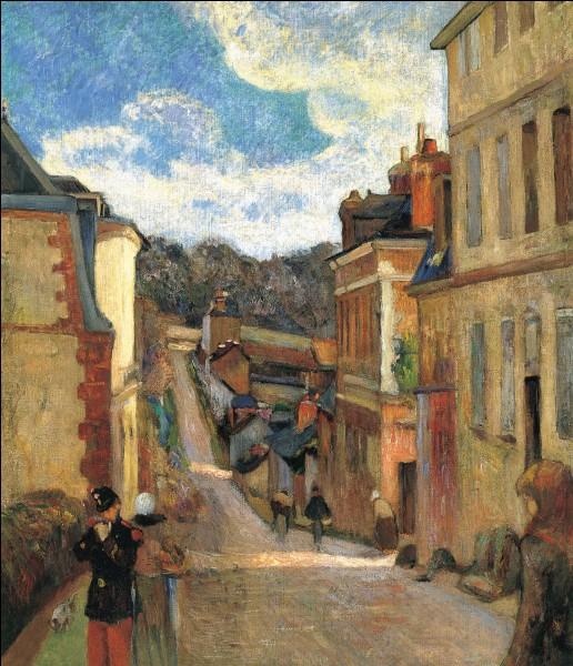 """Qui est le peintre de la """"Rue Jouvenet à Rouen"""" ?"""
