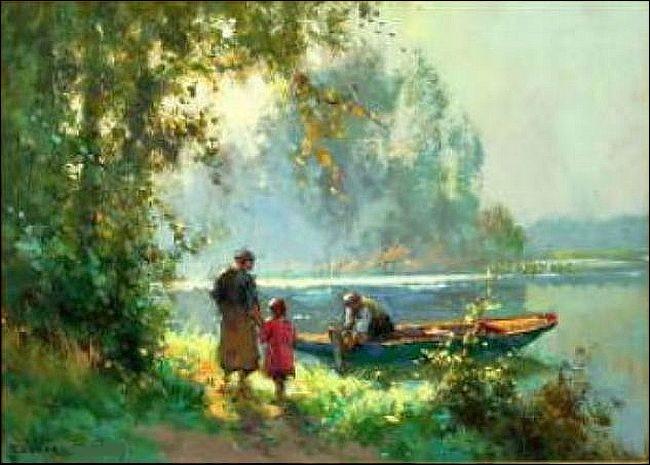 """Qui a peint """"Chemin en Normandie"""" ?"""