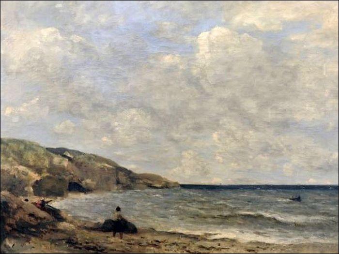"""Qui a représenté """"Une plage en Normandie"""" ?"""