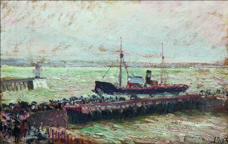 """Qui a peint """"Bateau, entrée dans le Port du Havre"""" ?"""