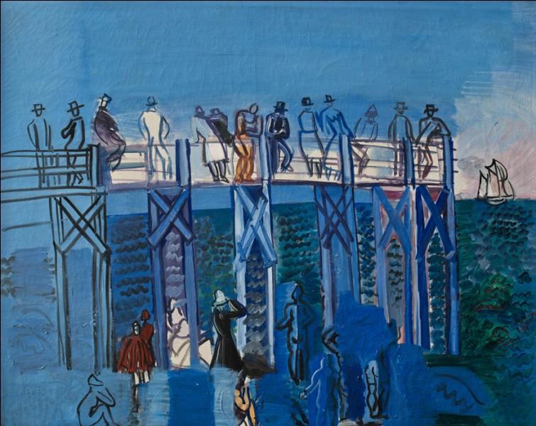 """Qui est le peintre de """"L'Estacade et la plage du Havre"""" ?"""
