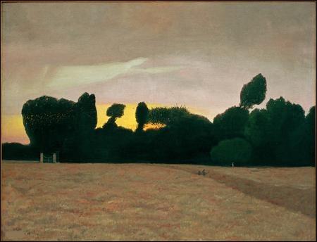 """À qui doit-on ce tableau intitulé """"Paysage de Normandie, soleil couchant"""" ?"""