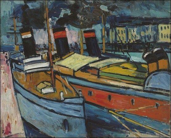 """Qui a peint """"Le Havre, bassins"""" ?"""