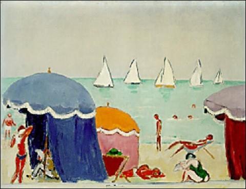 """Qui est le peintre de """"La Plage de Deauville"""" ?"""