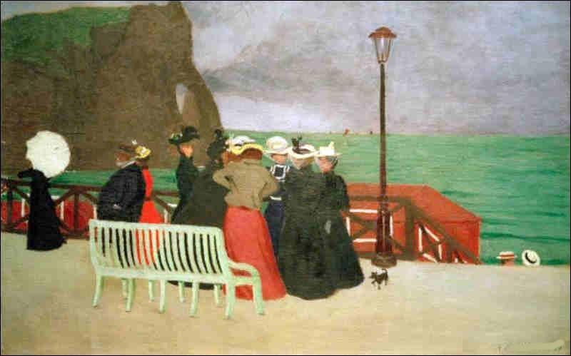 """Qui a peint """"La Promenade de la mer"""" ?"""