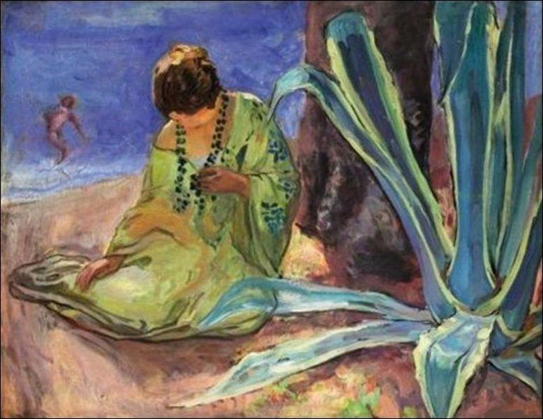 """Qui a peint la toile intitulée """"Femme au collier de perles - Sainte-Maxime"""" ?"""