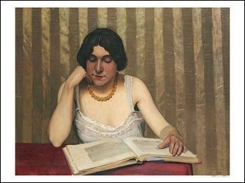 """Qui est le peintre de """"La Lectrice au collier jaune"""" ?"""