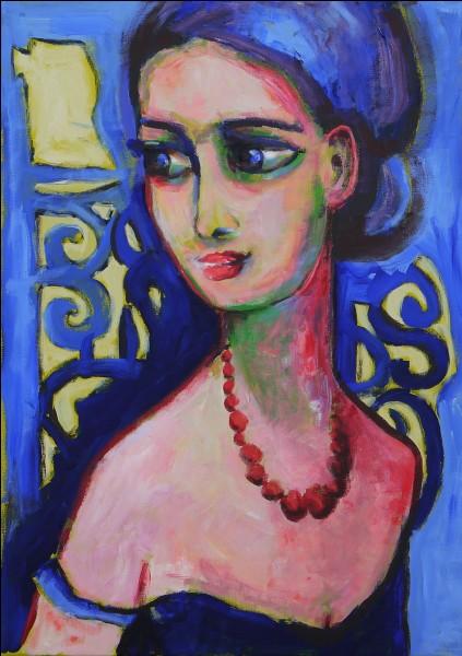 """Qui a réalisé la toile """"Le collier de perles"""" ?"""