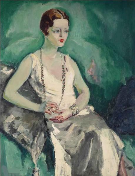 """Et voici enfin """"La Femme au collier de perles"""" par l'artiste :"""