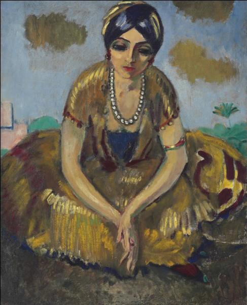 """À qui doit-on la toile intitulée """"Égyptienne au collier"""" ?"""
