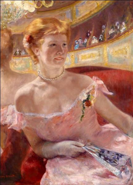 Qui a représenté cette femme au collier de perles dans une loge ?