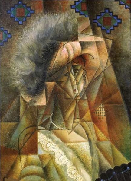 """Qui a peint """"Femme au chapeau rose et collier de perles"""" ?"""