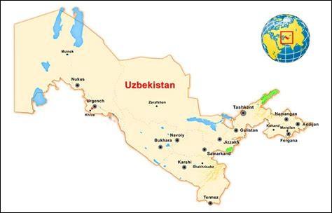 Quelle est la superficie de l'Ouzbékistan ?