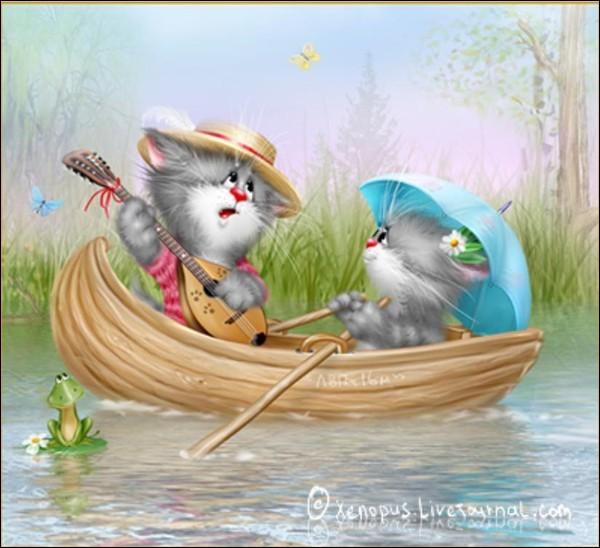 Dans tout le quiz, mon premier est sur l'image, c'est donc un chat ! Il faut trouver mon second, pour que mon tout soit un bateau de pêche !