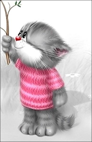 Mon premier est sur l'image, où est mon second pour que dans mon tout, le chat retombe en enfance ?