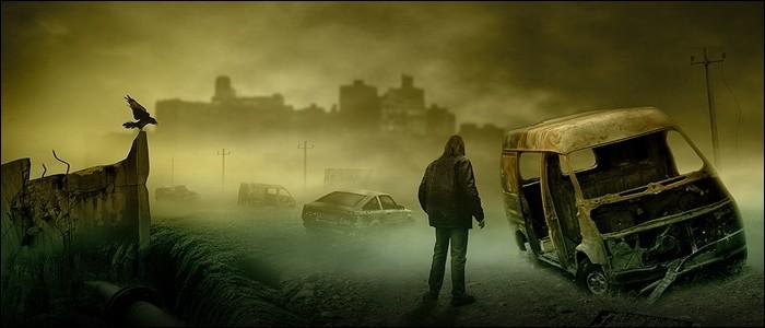 """Dans """"Le Fléau"""", une pandémie de grippe tue et transforme la population en zombies."""