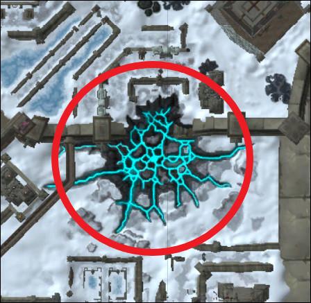 Retrouvez la position de la zone entourée :