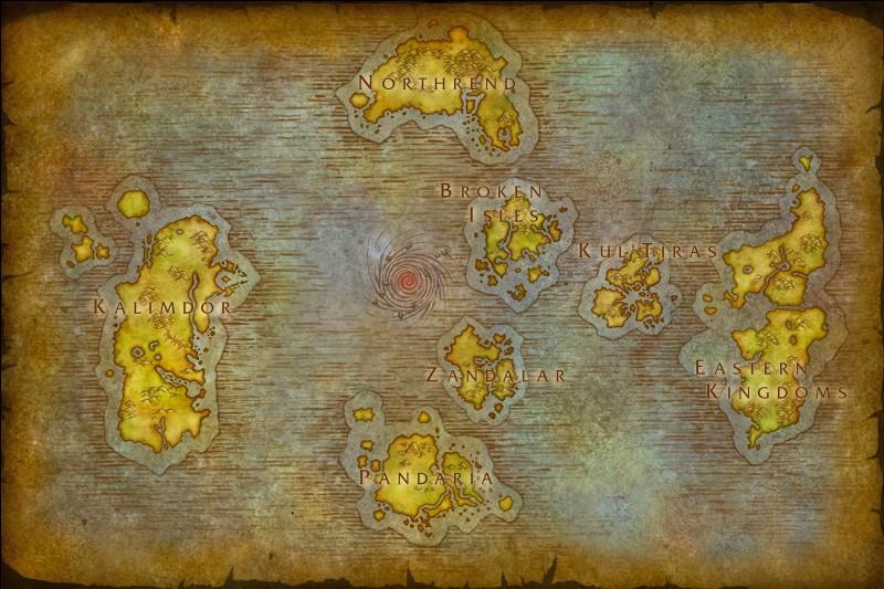Avant l'explosion du Puits d'éternité, quel était le nom du seul continent d'Azeroth ?