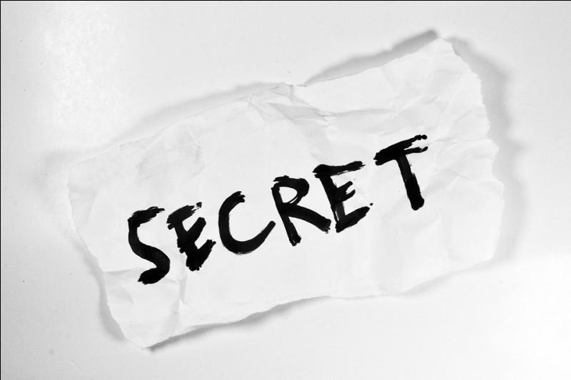 C'est un petit secret :