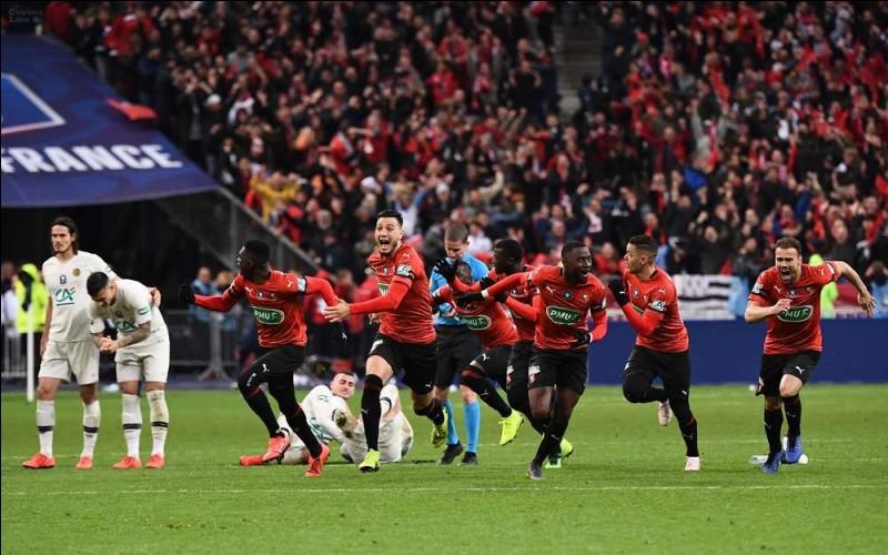 Quel joueur loupe son penalty décisif lors de la finale de Coupe de France face au Stade rennais ?
