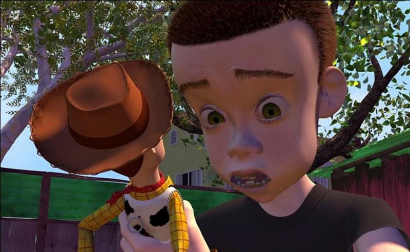 """Dans """"Toy Story 1"""", comment s'appelle celui qui est méchant avec ses jouets ?"""
