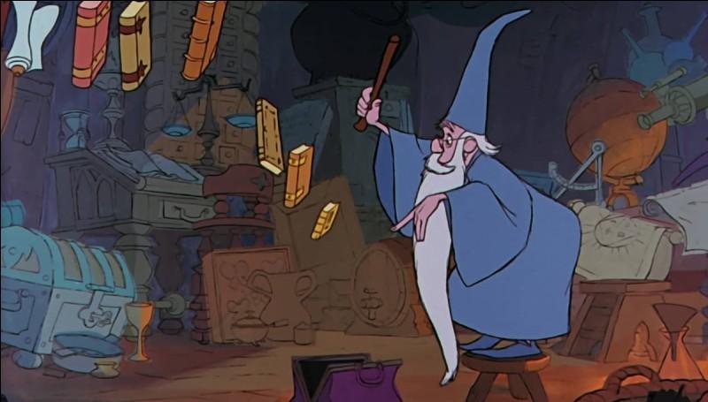 """Dans """"Merlin l'enchanteur"""", quel est le nom de la musique chantée par Merlin quand il range ses affaires dans son sac ?"""