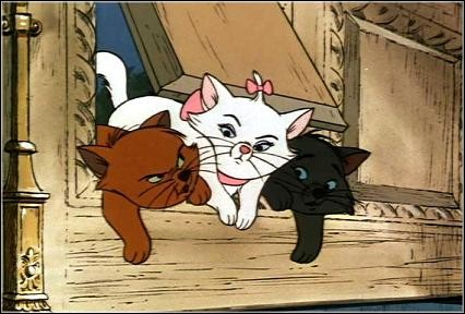 Dans ''les Aristochats'', les chatons de Duchesse s'appelle : Marie, Berlioz et...