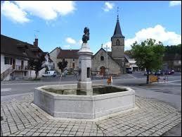 Nous nous trouvons devant la fontaine de Marianne, à Macornay. Commune de l'agglomération de Lons-le-Saunier, dans le Revermont, elle se situe dans le département ...