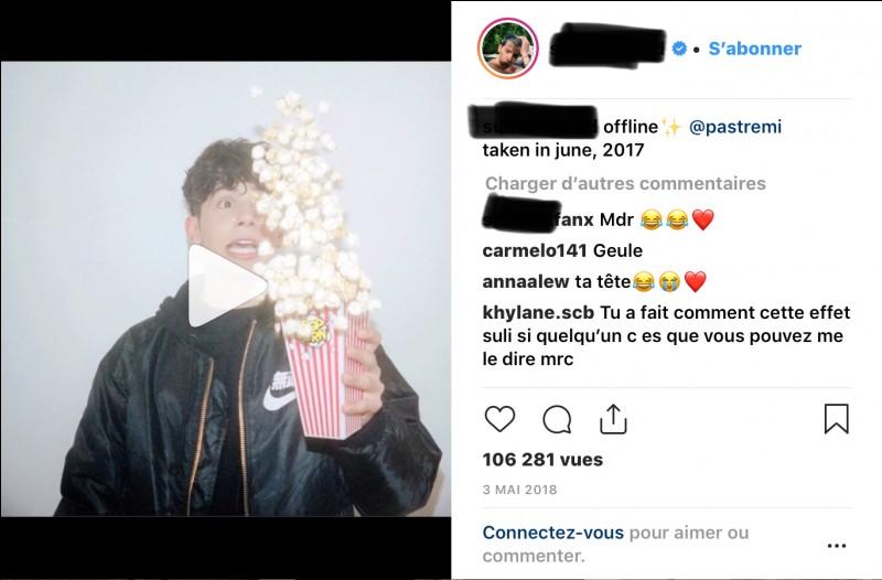 Quel influenceur français a posté cette photo ?