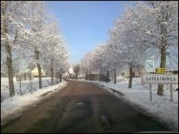 Petite vue hivernale de Luisetaines. Village francilien, il se situe dans le département ...