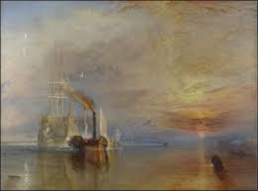 Histoire / peinture : Le HMS Temeraire était un navire de ligne de deuxième rang qui joua un rôle capital dans la bataille de Trafalgar le 21 octobre 1805 entre l'Empire français et le royaume d'Espagne contre le Royaume-Uni. Quel romantique a peint, en 1838, ce tableau intitulé ''Le Dernier Voyage du Téméraire'' . On le voit tracté par un remorqueur l'emmenant vers Londres pour y être détruit ?