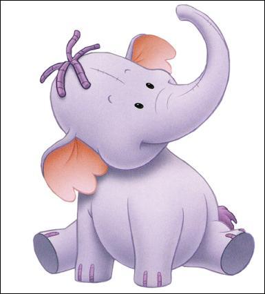 (Winnie l'ourson et l'éfélant) Comment s'appelle le petit éléphant que rencontre Petit Gourou ?